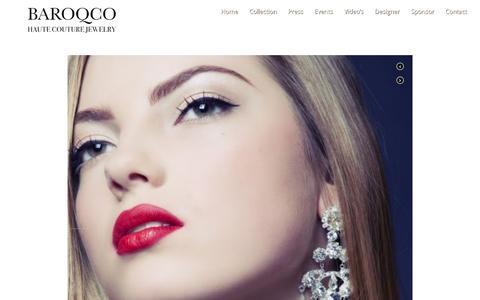 Screenshot of Press Page baroqco.com - Custom jewelry editorials - By BaroQco - captured July 28, 2016