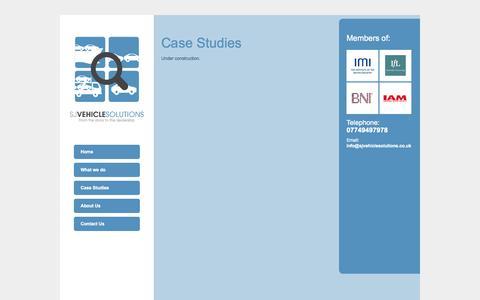 Screenshot of Case Studies Page sjvehiclesolutions.co.uk - Case Studies | SJ Vehicle Solutions - captured Sept. 30, 2014