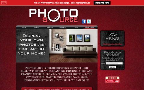 Screenshot of Home Page photosource.com - PhotoSource | Photo, Printing, Scanning, Video, Audio, Framing - captured Jan. 23, 2015