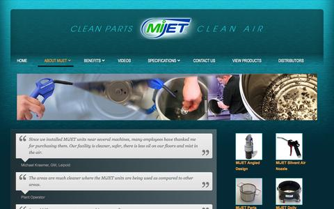 Screenshot of Testimonials Page mijet.com - MiJet Customer Testimonials - captured Oct. 27, 2014