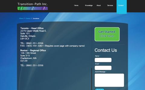 Screenshot of Locations Page transition-path.com - Locations «  Transition Path - captured Oct. 1, 2014