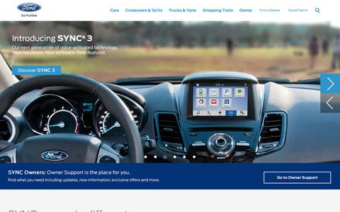 Ford SYNC & MyFord Touch | Introducing SYNC 3 | Ford.com