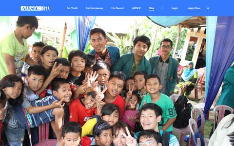 Screenshot of Blog aiesec.or.id - AIESEC Blog | Student, Career Advice, Youth Topics - captured Oct. 2, 2018
