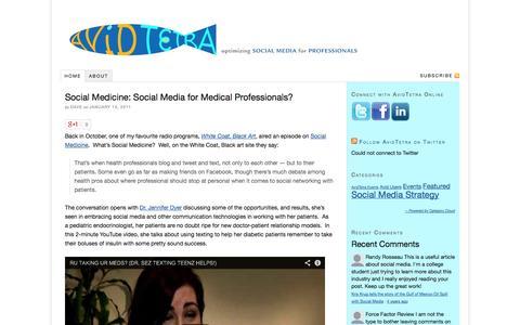 Screenshot of Home Page avidtetra.com - AvidTetra — Optimizing Social Media for Professionals - captured Oct. 4, 2014