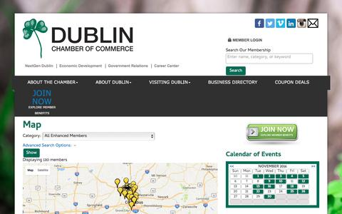 Screenshot of Maps & Directions Page dublinchamber.org - Map - Dublin Chamber of Commerce, OH - captured Nov. 24, 2016