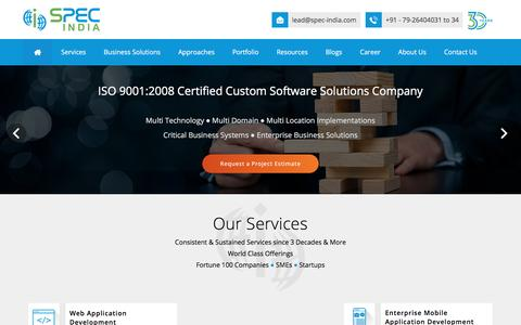 Screenshot of Home Page spec-india.com - Home - SPEC INDIA - captured May 10, 2017