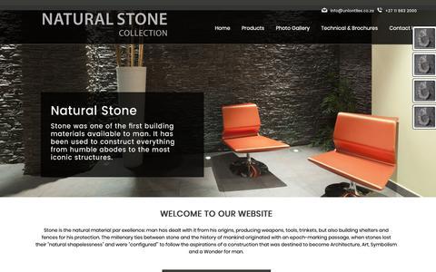 Screenshot of Menu Page naturalstone.net.za - Natural Stone Collection | Bedfordview, Gauteng | Natural Stone Collection - captured Oct. 24, 2018