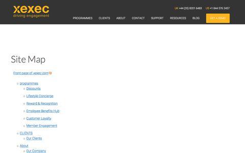 Screenshot of Site Map Page xexec.com - Site Map | xexec.com - captured Sept. 21, 2018