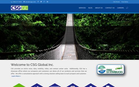 Screenshot of Home Page csggc.com - Home - CSG Global - captured Nov. 5, 2015