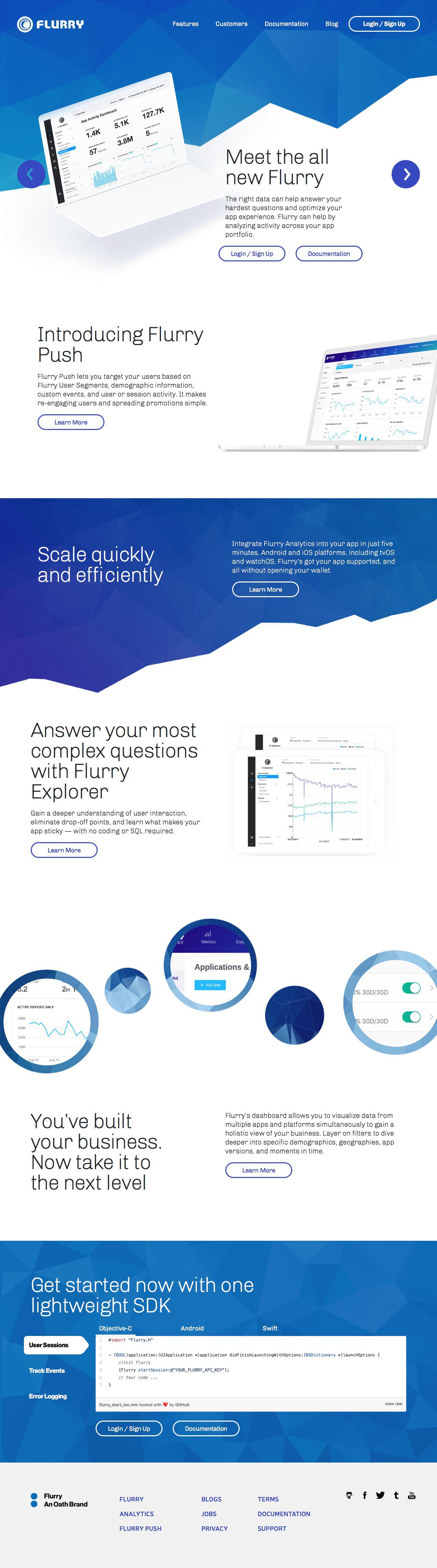 Screenshot of flurry.com - Flurry - captured May 15, 2018
