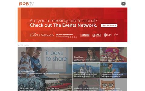 Screenshot of Home Page bob.tv - Welcome | BOB.tv - captured Sept. 22, 2014