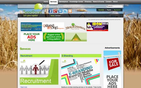Screenshot of Services Page seedbuzz.com - Services | Seedbuzz - captured Oct. 27, 2014