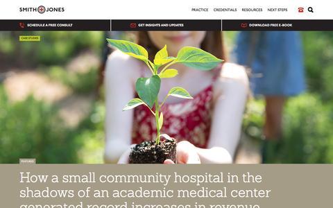 Screenshot of Case Studies Page smithandjones.com - Healthcare Marketing Case Studies | Smith & Jones - captured Jan. 19, 2016