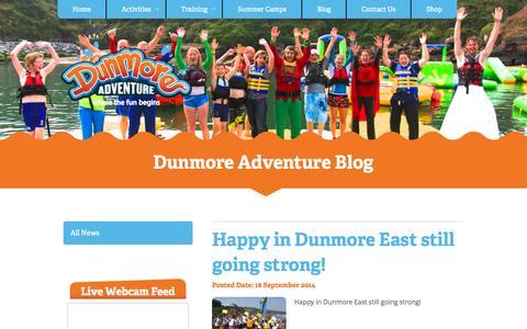 Screenshot of Press Page dunmoreadventure.com - Dunmore Adventure - captured Nov. 3, 2014