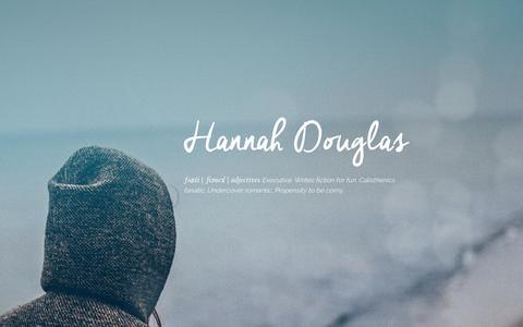 Screenshot of Home Page feistyfemale.com - Hannah Douglas - captured Sept. 11, 2015