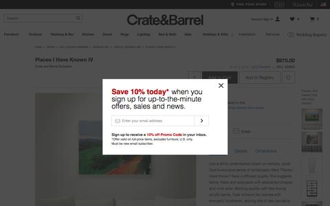 Places I Have Known IV   Crate and Barrel