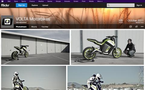 Screenshot of Flickr Page flickr.com - Flickr: Volta Motorbikes' Photostream - captured Oct. 25, 2014