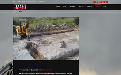 Screenshot of Blog deltahire.ie - Blog | Delta Hire Ltd. - captured Oct. 5, 2014