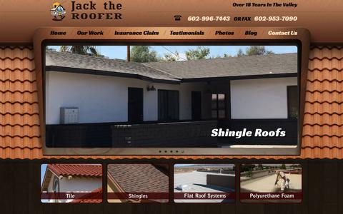 Screenshot of Contact Page jacktherooferaz.com - Contact Us  |  Jack The Roofer | Phoenix, Scottsdale and West Sun City Roofing Repair and Roof Building - captured Oct. 16, 2017