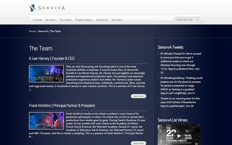 Screenshot of Team Page senovva.com - SenovvA | The Team | SenovvA - captured Oct. 27, 2014