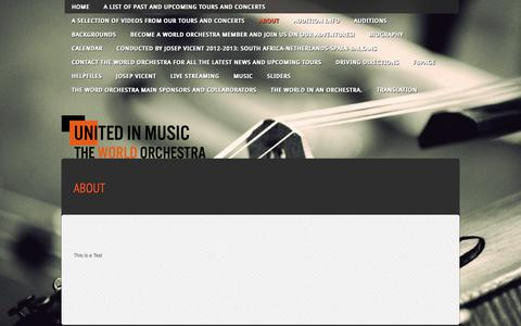 Screenshot of About Page theworldorchestra.org - About - The World Orchestra - captured Sept. 26, 2018