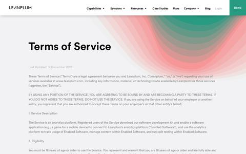 Terms of Service | Leanplum