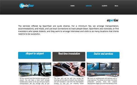 Screenshot of Services Page spainfixer.com - For a minimum fee - captured June 15, 2017