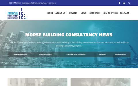 Screenshot of Press Page mbconsultancy.com.au - News - Morse Building Consultancy - captured Oct. 18, 2018