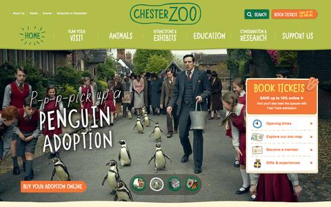 Screenshot of Home Page chesterzoo.org - Visit Chester Zoo - the UK's number one zoo - captured Sept. 19, 2014