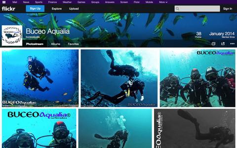 Screenshot of Flickr Page flickr.com - Flickr: buceoaqualia's Photostream - captured Oct. 23, 2014