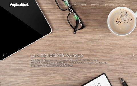 Screenshot of Home Page alphadev.it - Siti internet, informatica, e-commerce, grafica a Rossano (CS) - captured Sept. 11, 2015