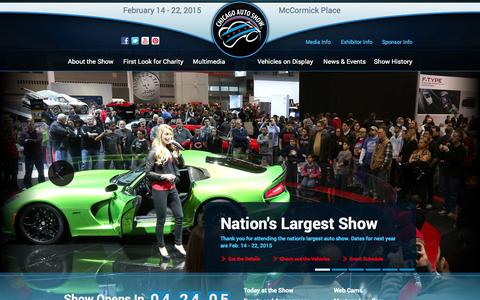 Screenshot of Home Page chicagoautoshow.com - The Nation's Largest Auto Show | Chicago Auto Show 2014 - captured Sept. 22, 2014