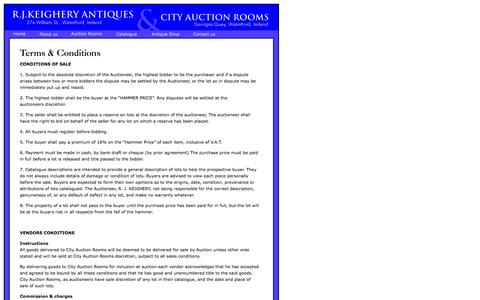Screenshot of Terms Page cityauctionrooms.com - City Auction Rooms - captured Sept. 29, 2014
