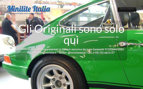 Screenshot of Home Page minilite.it - Minilite Italia | L'unico ed inimitabile cerchio made in England! - captured Oct. 6, 2014