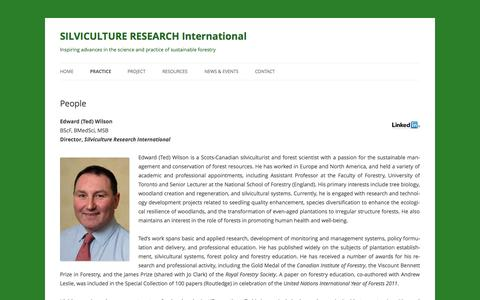 Screenshot of Team Page silviculture.org.uk - People | SILVICULTURE RESEARCH International - captured Oct. 4, 2014