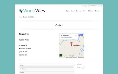 Screenshot of Contact Page work-wies.com - Contact - Work-Wies - captured Oct. 7, 2014