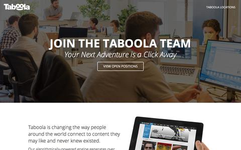 Screenshot of Jobs Page taboola.com - Taboola Careers - captured June 12, 2018