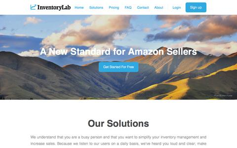 Screenshot of Home Page About Page Signup Page FAQ Page Login Page Terms Page Pricing Page inventorylab.com - Inventory Lab - Home - captured Sept. 23, 2014
