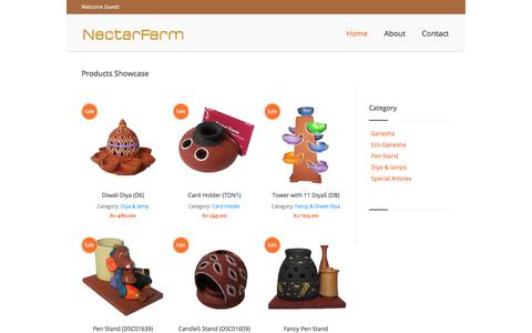 Screenshot of Home Page Privacy Page nectarfarm.com - Online Gifts, Diwali Diyas, Lamps - NectarFarm - captured Sept. 21, 2018
