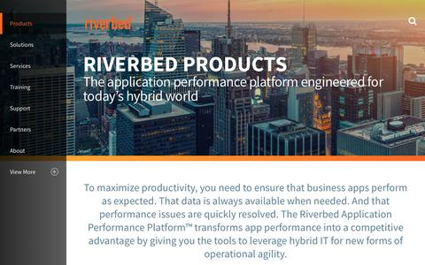 Screenshot of Products Page riverbed.com - Products Overview | Riverbed | US - captured Dec. 16, 2016