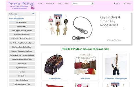Screenshot of Home Page pursebling.com - Purse Organizers, Purse accessories, and gifts in Seminole Florida - Free Shipping on orders over $9.95 - captured June 7, 2016