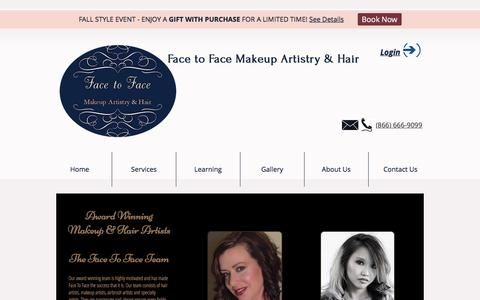 Screenshot of Team Page facetofacewithviolett.com - Face To Face With Violett Artists – wedding makeup, makeup artist cost - captured Oct. 13, 2017