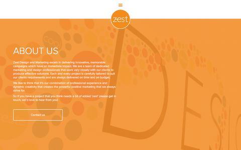 Screenshot of About Page zestdm.co.uk - About us | Zest Design & Marketing - captured Oct. 26, 2017