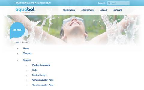 Screenshot of Site Map Page aquabot.com - Sitemap for Aquabot.com | Aquabot - captured Sept. 30, 2014