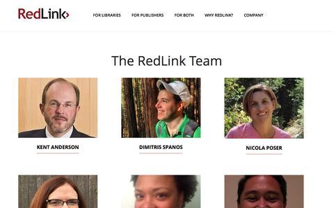Screenshot of Team Page redlink.com - Our Team – RedLink - captured Dec. 3, 2016