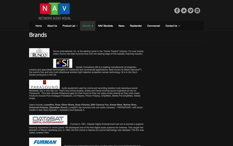 Screenshot of Services Page networkav.com.au - Brands - Network Audio VisualNetwork Audio Visual - captured Oct. 26, 2014