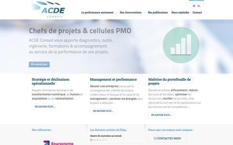 Screenshot of Home Page acde-conseil.com - Accueil - ACDE Conseil - captured May 28, 2017