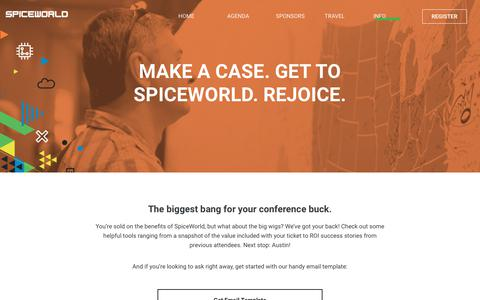 Make a case. Get to SpiceWorld. Rejoice. - SpiceWorld