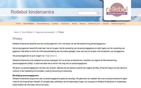 Screenshot of Privacy Page rollebol.nl - Privacy - Rollebol kindercentra - captured Nov. 5, 2017
