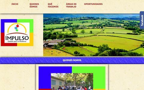 Screenshot of Home Page impulsoygestion.com - Impulso: Gestión para la Eficiencia - captured Sept. 8, 2015